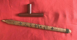 Vintage Catlinite Pipestone Peace Pipe By Sioux American Indian Pete Musil