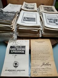 Farmers Bulletin Lot Of 600+ Us Dept Of Agriculture Leaflets Antique Collection