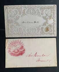 1860s Covers Civil War Era Envelopes Embossed Lace Valentine + Illustrated W@w