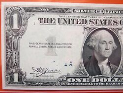 1 1935 A Silver Certificate Graded Error Obstructed Overprint 26-081