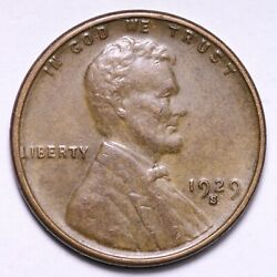 1929-s Lincoln Wheat Cent Penny Choice Unc Free Shipping E523 Ucf