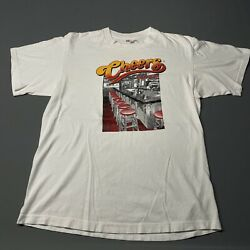 1994 CHEERS BOSTON Vintage Tee Made In Usa T shirt White Size Large