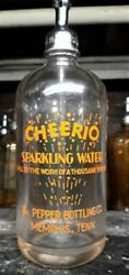 Extremely Rare And Beautiful Dr. Pepper Cheerio Memphis Tenn. Seltzer Bottle