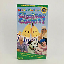 Kids for Character: Choices Count VHS 1997 Bananas in Pajamas $12.95