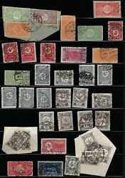 Saudi Arabia 1890 1930s Collection Of 40 Early Cancels On Stamps Of Hejaz Nejd And