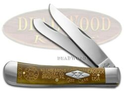 Case Xx Trapper Knife Antique Bone 1/500 Tang Stamps Stainless Pocket Knives