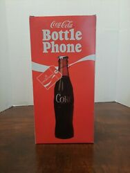 Vintage Coca Cola Bottle Phone New In Box With Holder And Manual And Cord Tested
