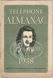 Bell American Telephone And Telegraph Co Vintage Wwii Telephone Almanac '48