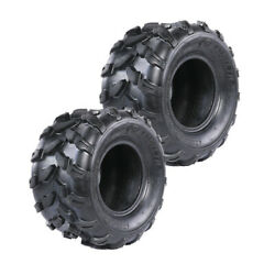 Two 18x9.50-8 Tire Atv 18x9.5-8 Tubeless 8 Tires Garden Tractor Lawn Mower Cart