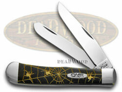 Case Xx Trapper Knife Gold Woodland Spiders Black Pearl Corelon 1/500 Stainless