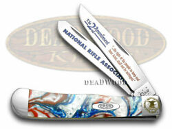 Case Xx Nra National Rifle Association Trapper Knife Patriotic Stainless Pocket