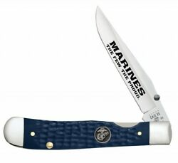 Case Xx Marines Usmc Trapperlock Knife Blue Synthetic Stainless 13196 Knives