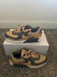 Nike Air Max 90 Id By You Custom Gold/ Gray Shoes Menand039s 11 Ct3621 991