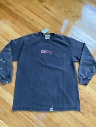 Gallery Dept. L/s Tee Nwt 100 Authentic Black Faded Painted On Tee Sold Out