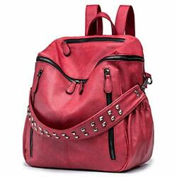 ROULENS Women PU Leather Backpack Purse Convertible Ladies Fashion Casual Tra... $61.91