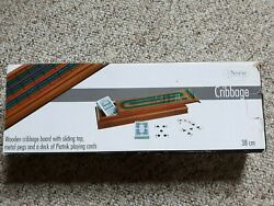 Rare Noese Collection Cribbage Board Beautiful Wood New In Box