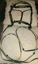 New Montana State Prison Made Hand Hitched Horse Hair Headstall/bridle W/reigns