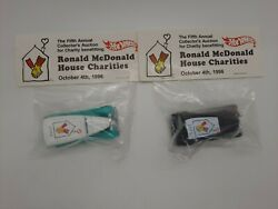 Hot Wheels 1996 Ronald Mcdonald Charities 32 Ford Delivery 2 Car Lot Rare Le