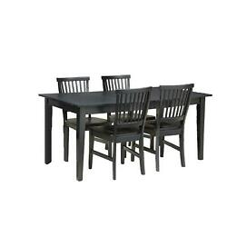Home Styles Arts And Crafts 5 Piece Dining Set Ebony