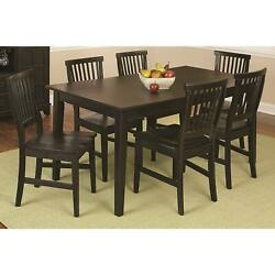 Home Styles Arts And Crafts 7 Piece Dining Set Ebony