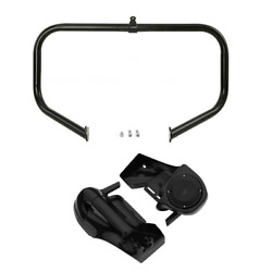 Lower Vented Leg 6.5and039and039 Speakers Crash Bar Fit For Harley Touring Road King 09-13