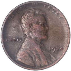 1924 D Lincoln Wheat Cent Fine Penny Fn See Pics J437