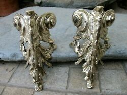 Vintage in Pair Brass Foot For Furniture Leg End Caps Leg Covers Old Ornaments