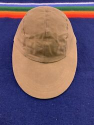 Vtg Cc Filson Waxed Canvas Filson Hat Tin Cloth Leather Fitted Fly Fishing