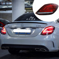 For Benz C-class W205 14-20 Red Led Taillights Assembly Turn Sequential Signal