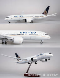 1/130 United Airlines Boeing B787 Passanger Plane Resin 43cm Aircraft Model Toy