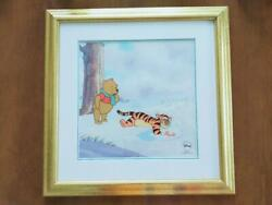 Disney Winnie The Pooh Painting 1pc Winter Blanket Framed W/ Certificate Limited