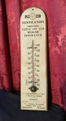Vintage Antique Jamesway Farm Wooden Advertising Thermometer