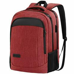 Travel Laptop Backpack Anti Theft Water Resistant Backpacks School Red $41.12