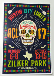 Acl 2017 Poster Austin City Limits 13x19 Music Festival Concert Poster Texas Atx