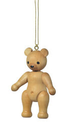 Christmas Tree Ornament Decoration Tree Trunk Teddy Standing Size 2 13/16in New
