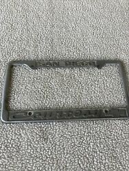 Vintage Courtesy Chevrolet - San Diego License Plate Frame - With Patina