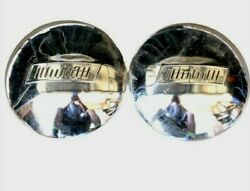 Vintage Set Of 2 Chrome 9.5 Plymouth Logo Hubcaps Fit's 1960s-1970's - Rare Nos