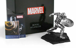 In Stock Marvel Royal Selangor Captain America Tin Model Statue Limited Hot Toy
