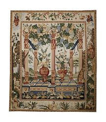 Tapestry Wool Rug, Traditional Carpet Beige Handmade Wall Decoration122x142cm