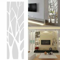 3D Mirror Tree Art Removable Wall Sticker Acrylic Mural Decal Home Room Decor