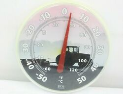 Vintage Bios Weather Plastic Farm Tractor Wall Hanging Thermometer Sign
