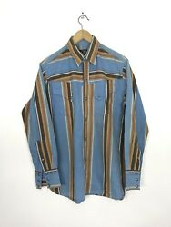 Vtg Indian Motorcycle Styled By Native American By Toyo Pearl Snap Button Shirt