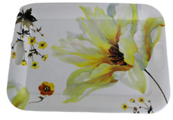 Certified International Melamine Tray Breakfast Bed Floral Made In Italy 19 X 14