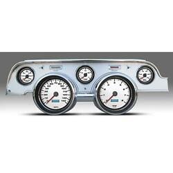 New Vintage Usa 02727-03 5 Gauge Performance Ll Wht 67-68 Mustang