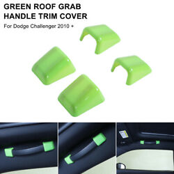 4pc Green Roof Grab Handle Trim Cover For Dodge Challenger 2010+ Car Accessories