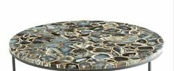 30'' Marble Table Top Dining Coffee Center Inlay Agate Decor Home Antique K3