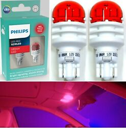 Philips Ultinon Led Light 921 Red Two Bulbs Interior Map Replacement Stock Fit