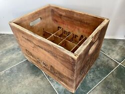 Antique Country Club Ginger Ale Quality Beverages Soda Co. Wood Crate - Rare