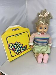 Vintage Playmates Cricket Doll 27 Tall With Tapes And Books