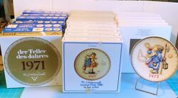 Complete Set Of 25 Hummel Plates 1971 - 1995. Mint Condition In Boxes, 1 No Box